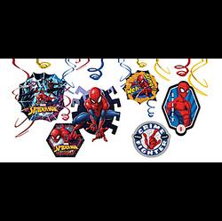 Spider-Man Webbed Wonder Swirl Decorations 12ct