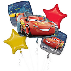 Cars Balloon Bouquet 5pc