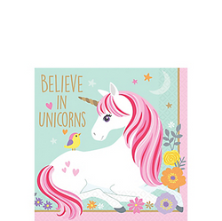 Magical Unicorn Beverage Napkins 16ct