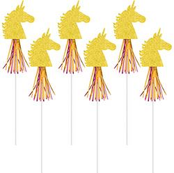 Glitter Magical Unicorn Wands 6ct