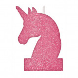 Magical Unicorn Glitter Birthday Candle