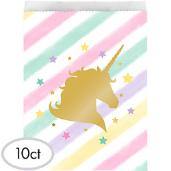 Sparkling Unicorn Treat Bags 10ct