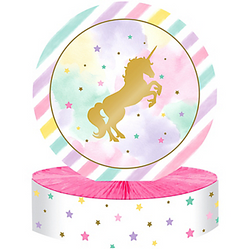 Sparkling Unicorn Honeycomb Centerpiece