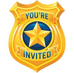 Police Invitations 8ct