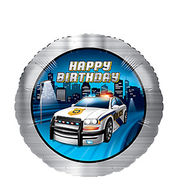 "Police Happy Birthday 18"" Foil Balloon"