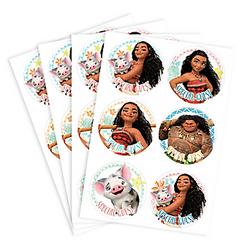 Moana Stickers 4 Sheets