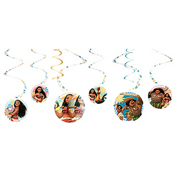 Moana Swirl Decorations 6ct