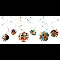 Moana Swirl Decorations 6ct