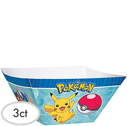 Pokemon Core Paper Serving Bowls 3ct