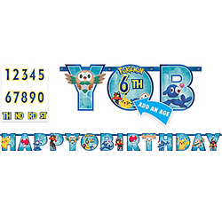 Pokemon Core Birthday Banner Kit