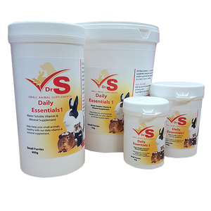 Vitamin and mineral supplement for small animals.