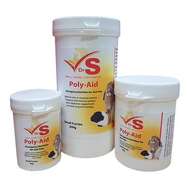 DrS Poly Aid sick animal supplement.