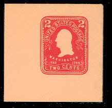U387 2c Carmine on Oriental Buff, Mint Full Corner