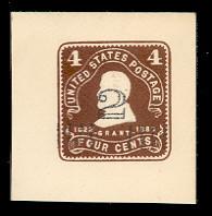 U462 2c on 4c Brown on White, Mint Full Corner, 44 x 44