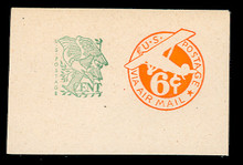 UC27 6c + 1c Orange, die 2a, Mint Full Corner, 77 x 50