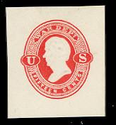 UO41 15c Vermillion on White, Mint Cut Square, 36 x 40