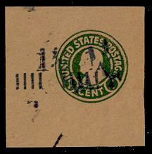 U500 1 1/2c on 1c Green on Brown, die 1, Double Surcharge, Mint Full Corner