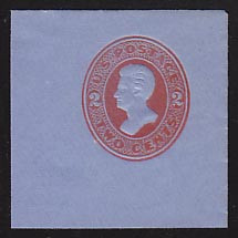 U146 2c Vermillion on Blue, die 5, Mint Full Corner, 50 x 50