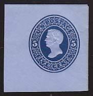 U175 5c Blue on Blue, die 1, Mint Full Corner