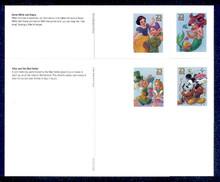UX436-39 UPSS# S450-53 23c Disney Mint Postal Cards