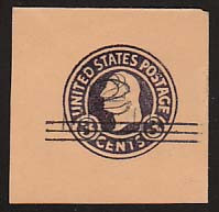 U470e 2c on 3c Dark Violet on Oriental Buff, Double Surcharge, types 2 & 4, die 1, Mint Full Corner