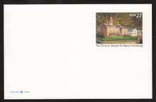 UX533 27c Mt Saint Mary's University Mint Postal Card