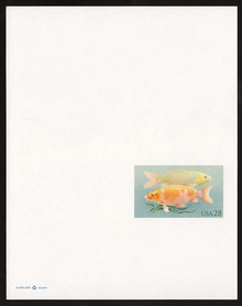 UY48 UPSS# MR58a 28c Koi Fish Mint UNFOLDED