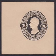 U207 30c Black on Oriental Buff, Mint Cut Square, 50 x 50