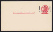 UX32 UPSS# S44-1, Atlanta Surcharge, Mint Postal Card