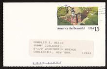 UX139 UPSS# S157-2 15c Philadelphia Used Postal Card