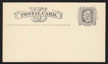 "UX5 UPSS# S4 1c Liberty Head, ""Write the addr.... Mint Postal Card, Yellow Buff stock."