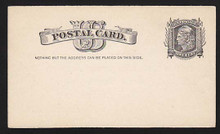 "UX7 UPSS# S6 1c Liberty Head, ""Nothing but addr..... Clean Face Postal Card"