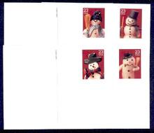 UX386-89 UPSS# 400-3 23c Snowmen Mint Postal Cards