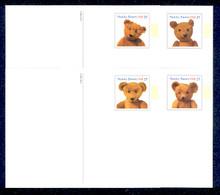 UX382-85 UPSS# 396-99 23c Teddy Bears Mint Postal Cards