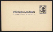 UX19 UPSS# S24 1c William McKinley, Square design, black on buff Clean Face Postal Card
