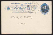 UX11 UPSS# S12 1c Grant, Blue on White Used Postal Card