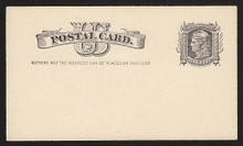 "UX7 UPSS# S6y 1c Liberty Head, Nail Hole Under ""D"", Mint Postal Card"