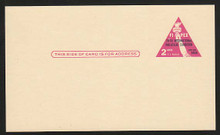 UX44f UPSS# S61b 2c FIPEX Exhibition Mint Postal Card, ROSE PINK
