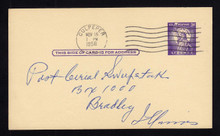 "UX46a UPSS# S63a 3c Statue of Liberty, Missing ""I"" Used Postal Card"