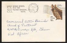 UX67 UPSS# S84 12c Ship's Figurehead Postal Card, Used to Ghana