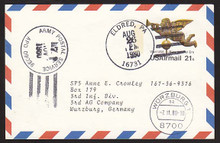 UXC16 UPSS# SA15 21c Angel Weather Vane Postal Card, Used to Germany