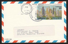 UXC23 UPSS# SA22 33c Ameripex '86, Chicago Postal Card, Used to Andorra