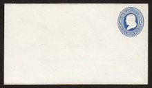 U74 UPSS # 144A 1c Blue on White, Mint Entire with Ruled Lines