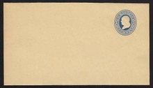 W77 UPSS# 153 1c Blue on Manila, Mint Wrapper, folded