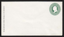 U82 UPSS # 169A 3c Green on White, Mint Entire, GR with Ruled Lines