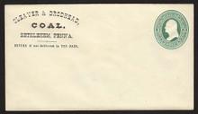 U83 UPSS # 182a 3c Green on Amber Mint Entire, CC