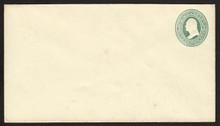 U83 UPSS # 190 3c Green on Amber, Mint Entire