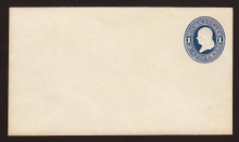 U108 UPSS # 254 1c Dark Blue on White, die 1, Mint Entire