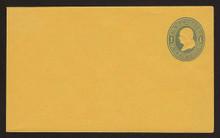 U111a UPSS # 258a 1c Light Blue on Orange, die 1, Mint Entire