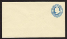U114 UPSS # 270-5 1c Light Blue on Amber, die 2, Mint Entire